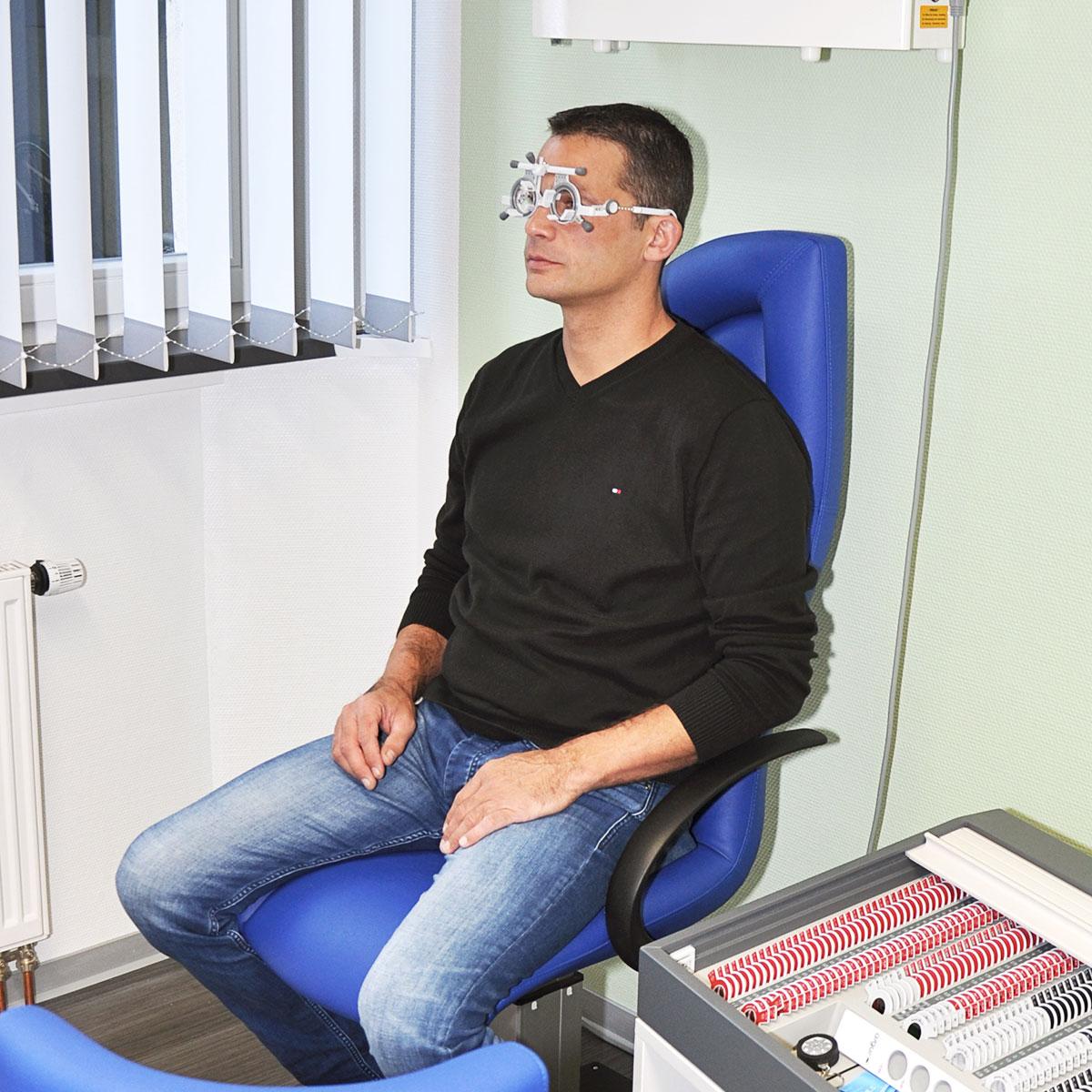 Brillenzentrierung - Augenoptik Wagner